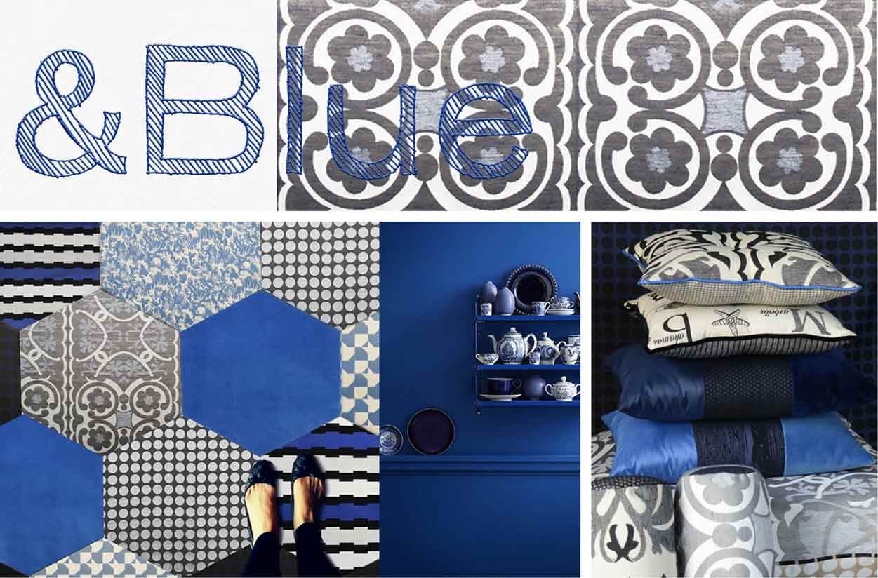 collage inspirations furniture fabric blue