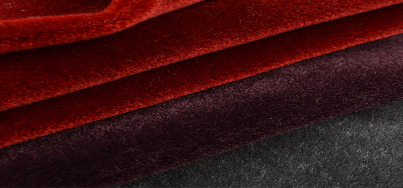 rotolo velluto kid mohair rosso
