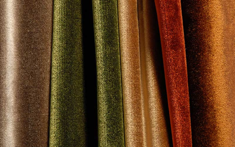 velvets multicolor valuable for furniture