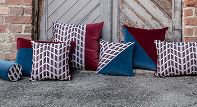 decorative pillows and furniture interior